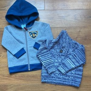 12 month sweater polo and sweater vest blue gray